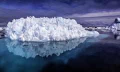 Artichokeberg (Baron Reznik) Tags: ocean reflection ice nature water landscape surrealism scenic surreal wideangle antarctica remote iceberg polar   scenicview   colorimage polarregion   canon24105mmf4lis   galindezisland argentineislands  wilhelmarchipelago frigidzone