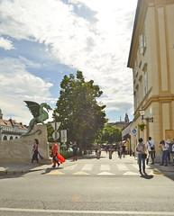 Ljubljana, Slovenia (mangaddicted) Tags: streetart river europe slovenia ljubljana oldtown ljubljanica artdragonbridge