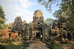 Angkor (fredcan) Tags: door travel trees light art history monument rock stone architecture forest temple site ruins asia southeastasia culture atmosphere worldheritagesite jungle shade siemreap angkor carvings ancientcity khmercivilization fredcan naturevscivilization