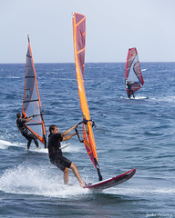 Costa Teguise Wind Surfers (Jackie XLY) Tags: surfer windsurfers windy weather sea sunny holiday beach waves sport sporting recreation fun surfers surfing windsurfing costa lanzarote canaryislands spain espania costateguise teguise