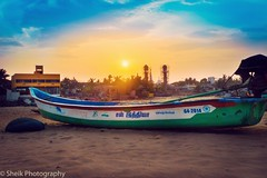 Covelong | Kovalam Beach Chennai (HSheikM) Tags: sunset sea sun india beach beautiful landscape evening boat shore 1855mm chennai tamilnadu outing mahabalipuram kovalam d3200 covelong