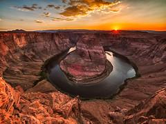 Horseshoe Bend at Sunset (Garen M.) Tags: arizona landscape utah day5 lakepowell rainbowbridge horseshoebend olympusomdem1 zuikopro714mmf28 zuikopro1440mmf28