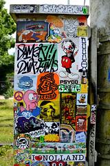 stickercombo (wojofoto) Tags: streetart holland amsterdam stickerart stickers nederland netherland stickercombo wojo flevopark amsterdamsebrug wolfgangjosten wojofoto
