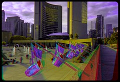 Nathan Phillips Square 3-D ::: HDR/Raw Anaglyph Stereoscopy (Stereotron) Tags: urban toronto architecture modern radio canon eos stereoscopic stereophoto stereophotography 3d downtown raw control contemporary citylife streetphotography kitlens twin anaglyph financialdistrict stereo townhall stereoview to remote spatial 1855mm canadianflag hdr brutalism redgreen tdot 3dglasses brutalist hdri transmitter stereoscopy synch anaglyphic optimized in threedimensional hogtown stereo3d thequeencity cr2 stereophotograph anabuilder thebigsmoke synchron redcyan 3rddimension 3dimage tonemapping 3dphoto 550d torontonian stereophotomaker 3dstereo 3dpicture anaglyph3d yongnuo stereotron