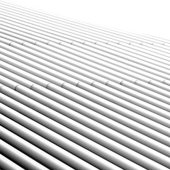 Metal Bamboo (harry.f) Tags: city urban white abstract reflection vertical wall architecture square paint day symbol architecturaldetail contemporary empty nobody clean growth staircase simplicity backgrounds series modernlife conceptual shape highup striped sparse textured bottomup conglomerate movingup architectureandbuildings movingdown builtstructure architectureabstract conceptsandideas