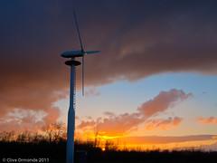 Sunset at Oadby (ceeko) Tags: sunset england leicestershire windturbine 2011 oadby brockshill olympusep2