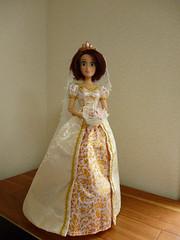 "OOAK  Rapunzel doll ""Wedding dress"