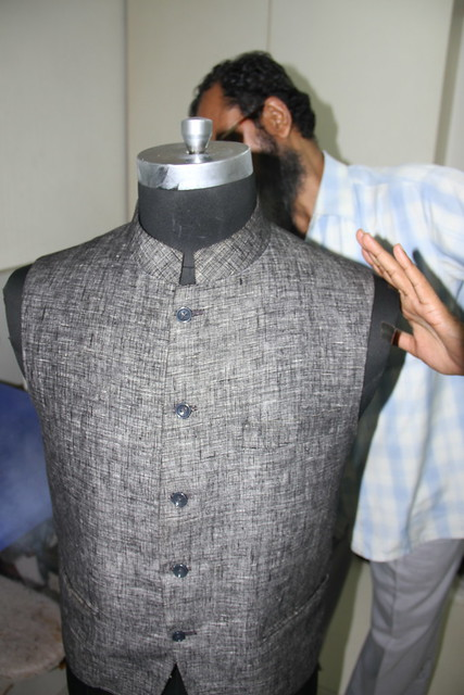 The Finishing Touches To My Sleeveless Jacket or Bundi
