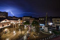 Electricity (T.P Photographie) Tags: city light storm night nikon place shot sigma bolt electricity toulouse nuit garonne eclair ville orage haute electrique dupuy lightstorm foudre electrify d7000