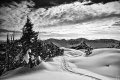 a snowshoes walk on winters blanket (gregor H) Tags: winter mountain snow alps snowshoes wintertour pprowinner