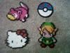 Slowpoke, Great Ball, Hello Kitty, Link (perlerbeadcrafts) Tags: hello ball beads great kitty link pokemon zelda hama perler slowpoke beadsprite