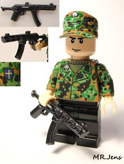 Waffen SS Pzr Crew member with PPS-43 WWII LEGO (MR. Jens) Tags: world two germany war wiking lego wwii ss swedish german figure ww2 division custom volunteer 5th 43 pps waffen brickarms pps34