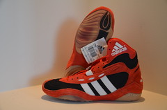 Adidas Tyrint Red. Size 8.5. Brand New (Locke1015 Wrestling) Tags: blue original red west dan yellow vintage ultimate german asics split flex adidas sole samples ultra rare xl pursuit gable p2 pursuits 88s rulon equipments aquas p2s tyrint gutches friestil rulons