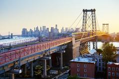 (Tony Shi Photos) Tags: city nyc newyorkcity bridge sunset urban ny les skyline brooklyn downtown day manhattan side bridges eastriver williamsburg manhattanskyline lowermanhattan williamsburgbridge williamsburgbrooklyn