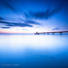 Glowing Waters (images through a lens) Tags: uk longexposure pier europe unitedkingdom britain somerset severn clevedon severnestuary 10stop