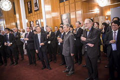 Koji Miyahara and Yoshiyuki Kasai  at  the Presidency Reception hosted by the Japanese Minister