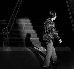 in a window of light (StephenCairns) Tags: light shadow blackandwhite bw japan stairs canon gifu motosu  stephencairns  canon5dmarkii figuregroundrelationships inawindowoflight
