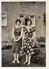 Image titled Susan &  Netti Frost. Shetleston. 1950