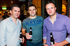 Bernard Cleary, Ronan O'Sullivan and Andrew Neenan pictured enjoying the Coors Light Live in the Latin Quarter Weekend in the Kings Head on Sunday. Photo: Reg Gordon