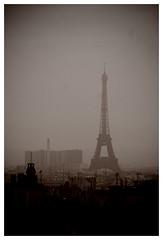 Through the window is Paris..