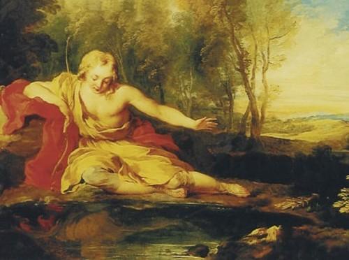 [ L ] Francois Lemoyne - Narcissus (1725)