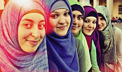 Where the air was so clear (Selminsss) Tags: hijab flowersofislam