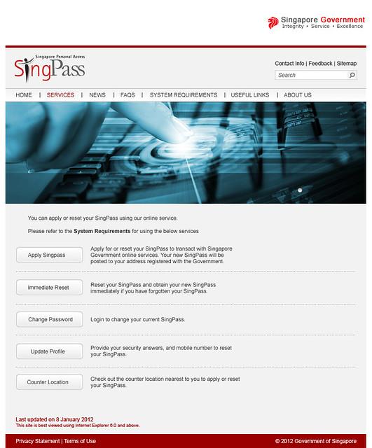 Singpass-Services