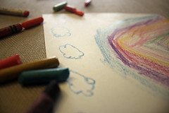 Nubes (Edna Bojrquez) Tags: arcoiris colores nubes dibujo crayolas