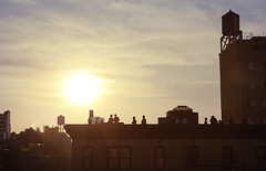 rooftop party (Garlicandy*) Tags: sunset summer newyork les lowereastside rooftopparty
