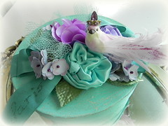 Paris Tre'sor Box in aquas and lavender (AllThingsPretty...) Tags: blue paris french aqua box lavender crackle fabricroses