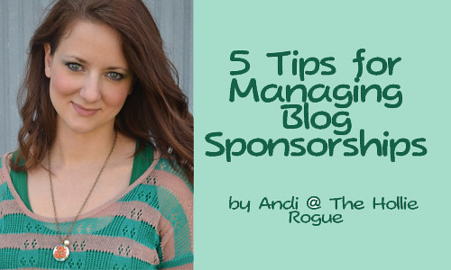 managing blog sponsorships button