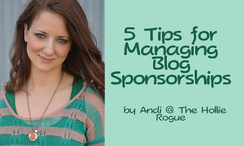 managing blog sponsorships button