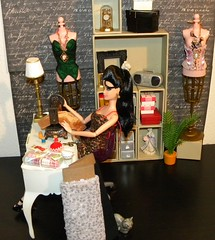 Elvis Pivotal Barbie in the Sewing room! (MIO Designs) Tags: elvisbarbie pivotalbarbie