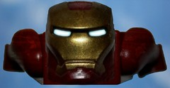 Iron Man (The_Flash98) Tags: man eyes iron lego awesome scratches glowing aviary epic avengers pixelmator