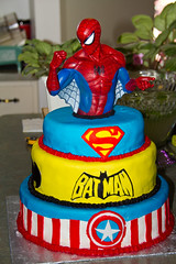Marvel / DC Crossover Cake