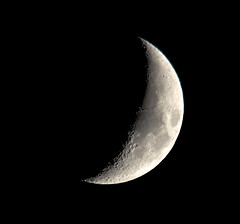 Tonights waxing crescent 29% lite (dangerousdavecarper) Tags: moon solar nikon sigma surface system crescent craters planet 500mm waxing 150500 d5100