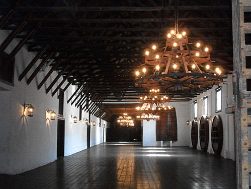 <p>The wineries are varied in their age, style, and methodology used in wine making. This is Casa Silva, in the Colchagua Valley of Chile, one of the older and more elegant of the wineries. </p>