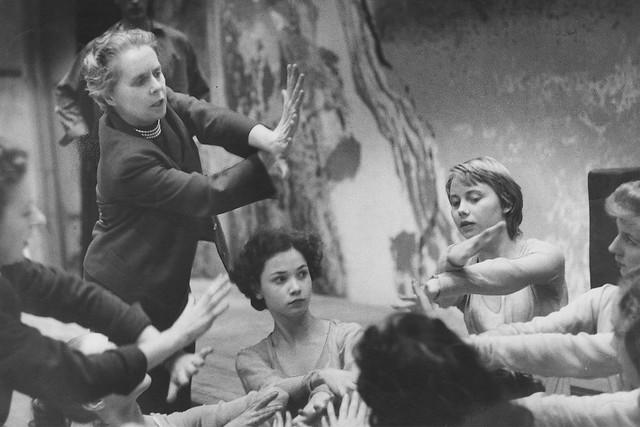 Ninette de Valois rehearsing her ballet Job in 1948 © Roger Wood/ROH 1948