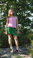 family pink camping summer vacation max green girl kids fun play greg hiking alyson adventure backpacking 2012 moxy appalachiantrail swagger skort tennisshoes at
