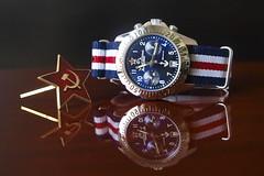 From Russia with love... (Plamen Velev) Tags: submarine soviet uboat chronograph redstar chrono 3133 cronograph natostrap poljot komandirskie