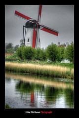 Wind Power (mike matthews) Tags: reflection boat canal belgium brugge bruges damme