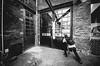 spotting details (Tafelzwerk) Tags: white black berlin backyard fotograf photographer stonework bricks sigma wideangle 8mm schwarz prenzlberg brickwork prenzlauerberg weitwinkel weis ziegelsteine mauerwerk mansonry hinderhof d7000 tafelzwerk