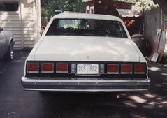 MY DADS '80 CAPRICE (richie 59) Tags: old summer usa cars chevrolet car america sedan 35mm outside us automobile gm unitedstates driveway faded chevy chrome 35mmfilm newyorkstate oldpictures oldcar frontyard 1980s oldcars automobiles 1990 taillights taillight rustycar chevys backend nystate caprice americancars generalmotors hudsonvalley whitecar whitecars americancar clunkers chevycaprice motorvehicles fadedpaint stremy ulstercounty oldchevy 4door uscar uscars midhuds