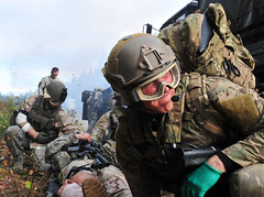 212th Rescue Squadron and 509th Infantry Regiment (Airborne) train with each other (Official U.S. Air Force) Tags: infantry alaska training army us ak airforce moulage airguard pararescue jointtraining 509th bakercompany jointbaseelmendorfrichardson