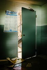 fairmont supply company (Sam Scholes) Tags: door light shadow building green abandoned digital utah nikon mine calendar storage mining warehouse doorway coal hiawatha d300 kingcoal kingmine usfco unitedstatesfuelcompany