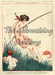 30573654 (The Advertising Archives) Tags: vintage french fishing illustrations erotica womens retro posters artdeco saucy magazinecovers disasters lavieparisienne magazineartwork theadvertisingarchives magazineplates