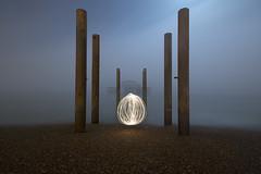 The last fight (Alex Bamford) Tags: fog brighton westpier moonlight sparkler alexbamford lightfight wwwalexbamfordcom alexbamfordcom
