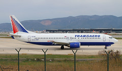 Transaero Airlines 737-400 EI-CXK (birrlad) Tags: barcelona airplane airport spain taxi aircraft aviation airplanes bcn airline airways airlines departure takeoff runway airliner departing taxiway 25r