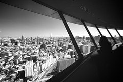 Tokyo Vertigo (Jake in Japan) Tags: windows blackandwhite