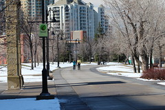 Easter wandering around Calgary. (davebloggs007) Tags: calgary river easter downtown alberta bow pathway clagary
